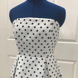 SANS SOUCI Strapless Polkadot Strapless Dress M
